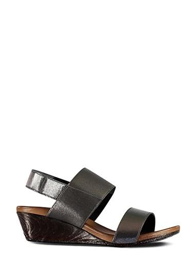 Marjin Dolgu Topuklu Sandalet Gümüş
